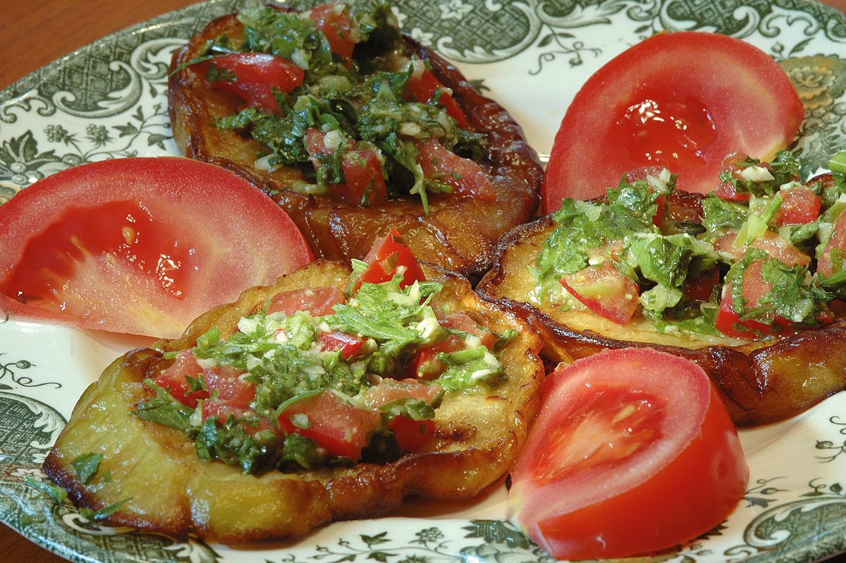 Padlizsán saláta