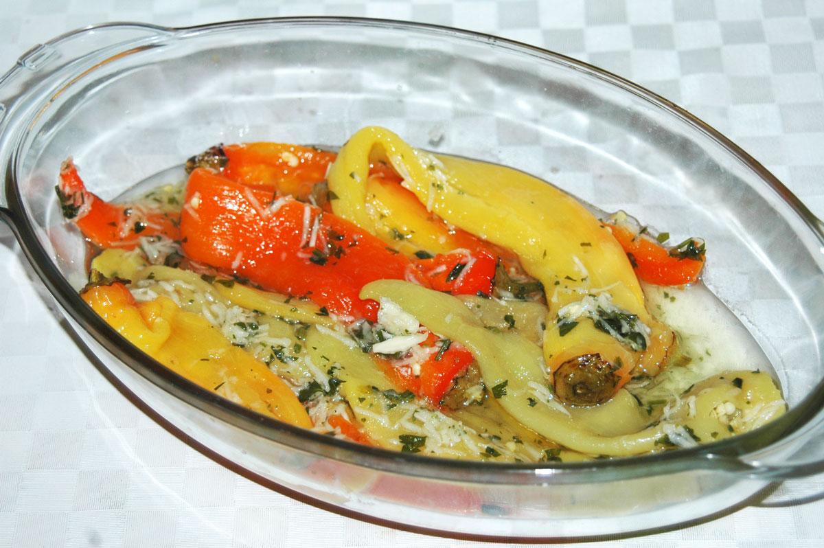 Szerb főtt paprika saláta