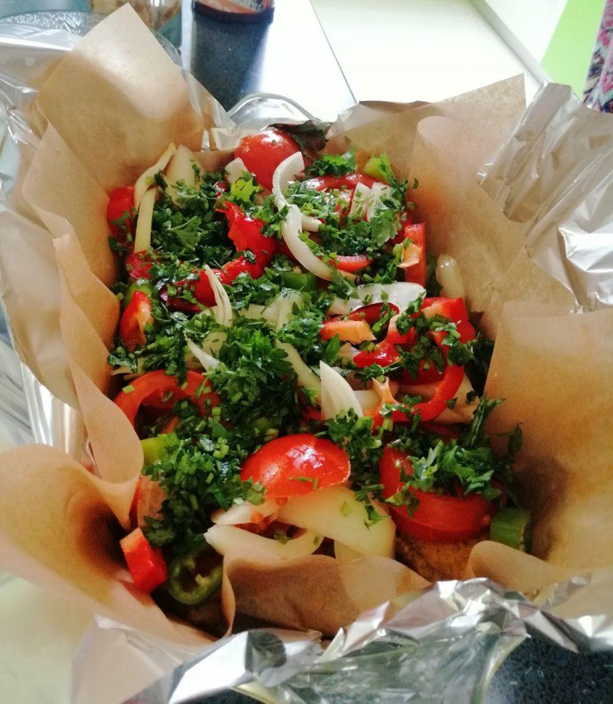 Zöldséges, Nabil fűszeres hal