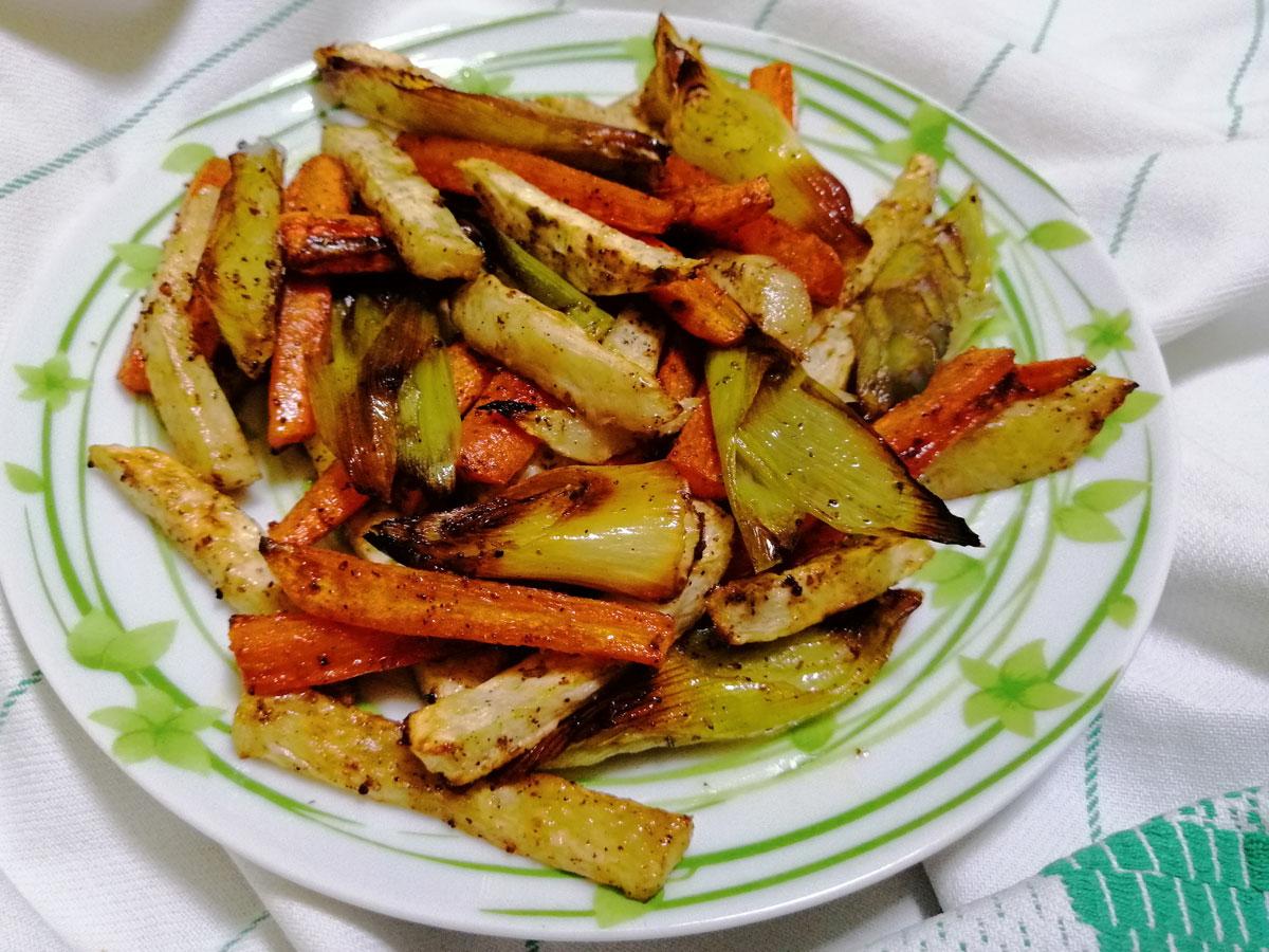 Sütőlapon sült zöldségek