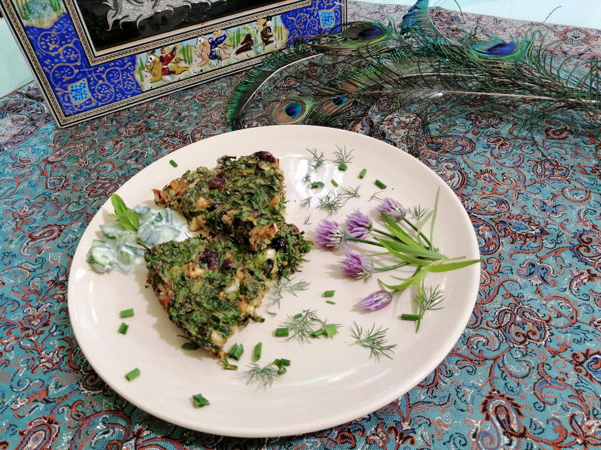 Kuku sabzi, perzsa zöldfűszeres tojás